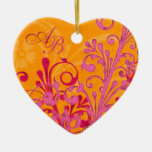 First Christmas Together Wedding Heart Ornament