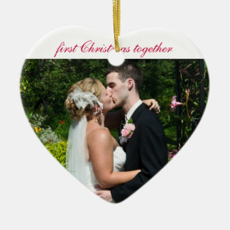 First Christmas together - Wedding Remembrance Ceramic Ornament