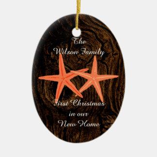 First Christmas Tropical New Home Custom Ornament