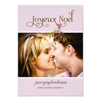 First Christmas Under the Mistletoe Holiday Photo Card