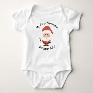 First Christmas Vest Baby Bodysuit
