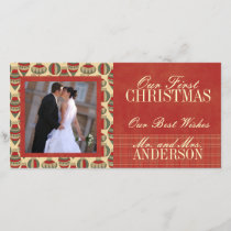 First Christmas Wedding Photo Cards