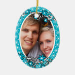 First Christmas wedding photo PERSONALIZE Christmas Ornament