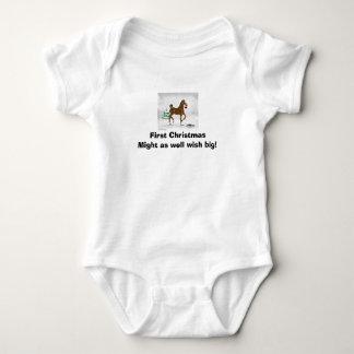 First Christmas WishT-Shirt Baby Bodysuit