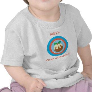 First Christmas Xmas Pud T Shirt shirt