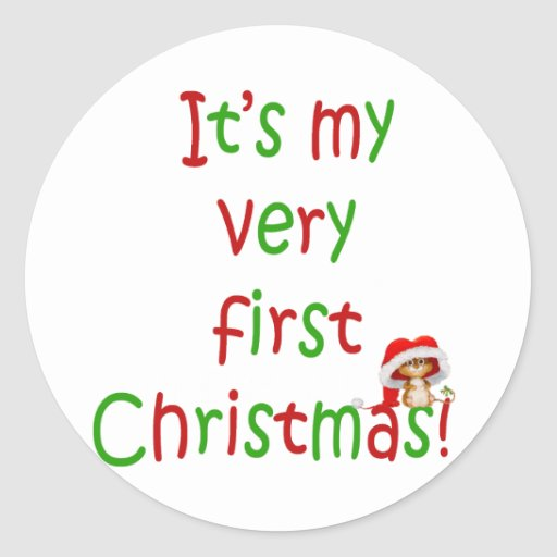First Chrsistmas Round Stickers