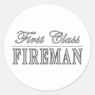 First Class Fireman Sticker