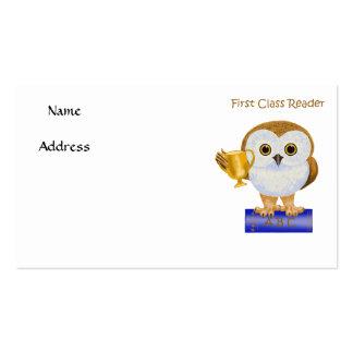 First Class Reader Business Card