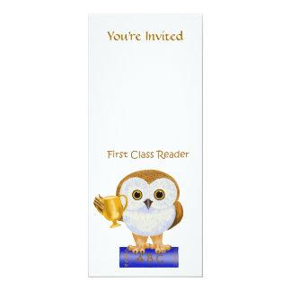 First Class Reader 4x9.25 Paper Invitation Card