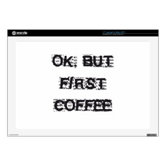 First Coffee Laptop Decal