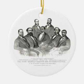 First Colored Senator and Representatives Ceramic Ornament