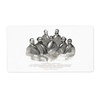 First Colored Senator and Representatives Label