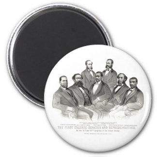 First Colored Senator and Representatives Refrigerator Magnet
