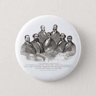 First Colored Senator and Representatives Pinback Button