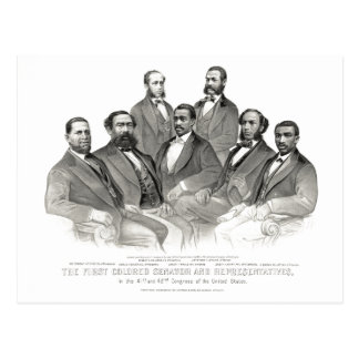 First Colored Senator and Representatives Postcard