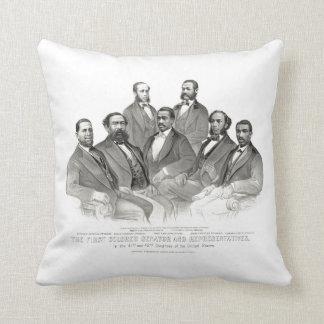 First Colored Senator and Representatives Throw Pillow