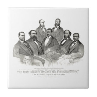 First Colored Senator and Representatives Tile