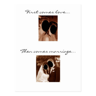 First comes love... We're having a baby! Post Card