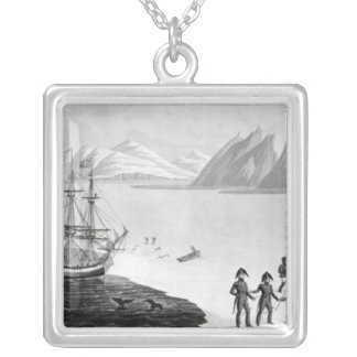 First communication with the natives of Prince Silver Plated Necklace