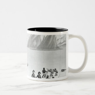 First communication with the natives of Prince Two-Tone Coffee Mug