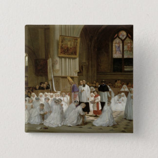 First Communion, 1867 Pinback Button