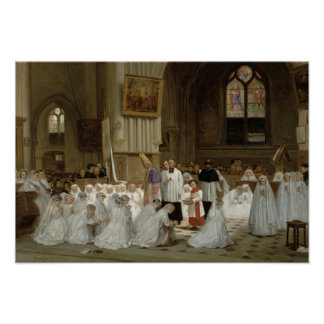 First Communion, 1867 Poster