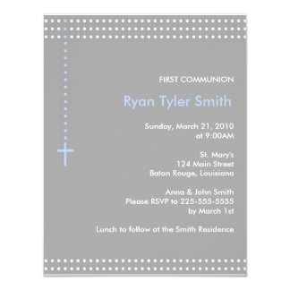 First Communion 4.25x5.5 Paper Invitation Card
