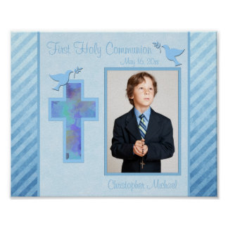 """First Communion 8""""x10"""" Photo Frame Insert Poster"""