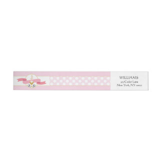First Communion Address Label - Pink & Gold