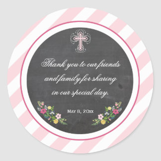 First Communion | Baptism Favor Sticker