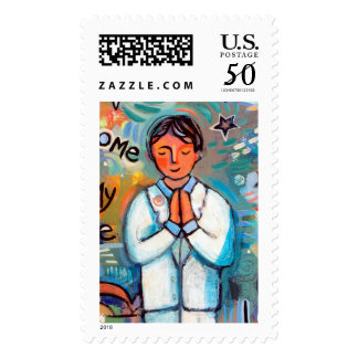 First Communion Boy Colorful Postage Stamps