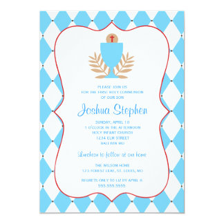 First Communion Chalice Cross Card