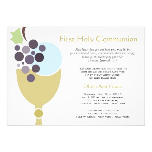 Wording For First Communion Invitations as good invitation sample