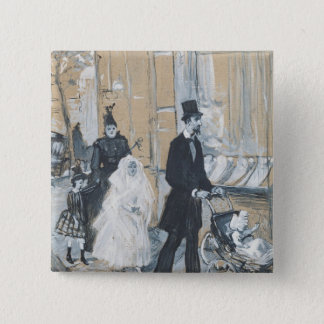 First Communion Day, 1888 Pinback Button