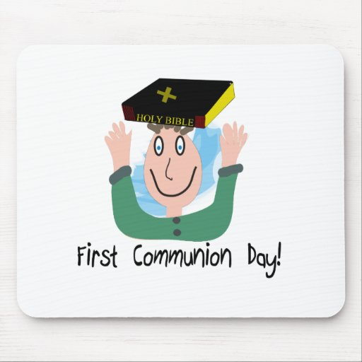 """First Communion Day~~""""Boy With Bible"""" Mouse Pad"""
