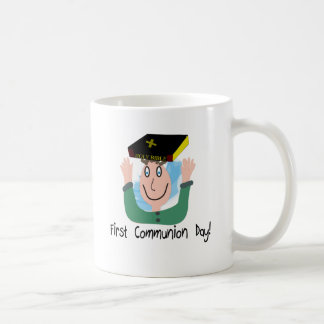"""First Communion Day~~""""Boy With Bible"""" Mugs"""