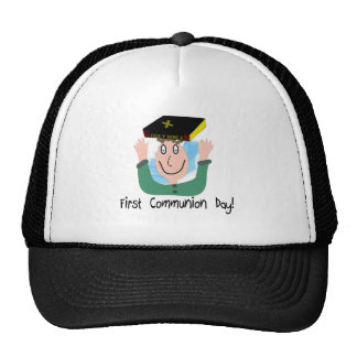 """First Communion Day~~""""Boy With Bible"""" Trucker Hat"""