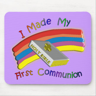 First Communion Day  T-Shirts & Gifts For Kids Mouse Pad