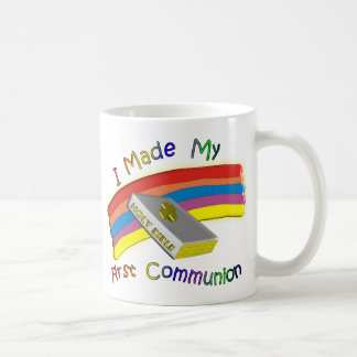 First Communion Day  T-Shirts & Gifts For Kids Classic White Coffee Mug
