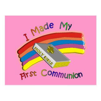 First Communion Day  T-Shirts & Gifts For Kids Postcard