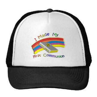 First Communion Day  T-Shirts & Gifts For Kids Trucker Hat