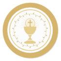 First Communion Envelope Seal or Favor Sticker sticker
