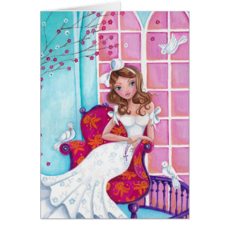 First Communion Girl Greeting Card