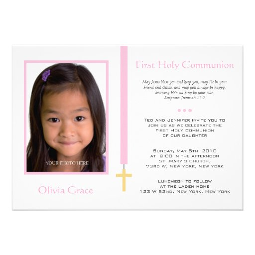 First Communion - Girl Personalized Announcements