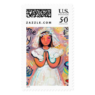 First Communion Girl Postage