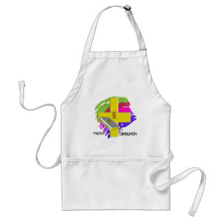 First Communion GOLD CROSS Design Adult Apron