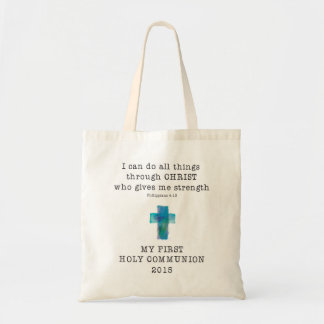 First Communion I Can Do All Things Tote Bag