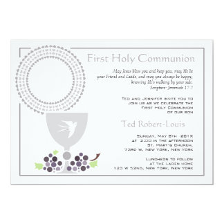 "First Communion Invitation 5"" X 7"" Invitation Card"