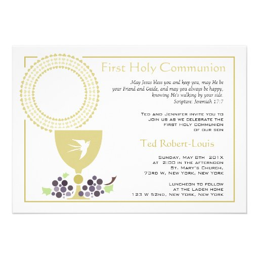 First Communion Invitation Wording for adorable invitation example