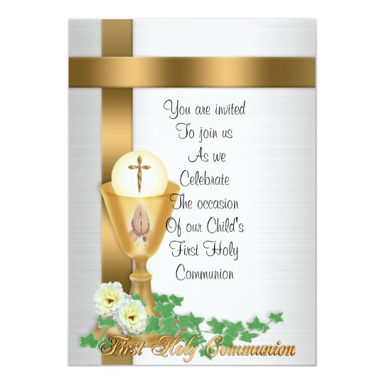First Communion invitation Zazzlecom